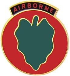 24th Infantry Division Airborne Pin (1 inch)