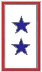 2 Blue Star Service Pin (7/8 inch)