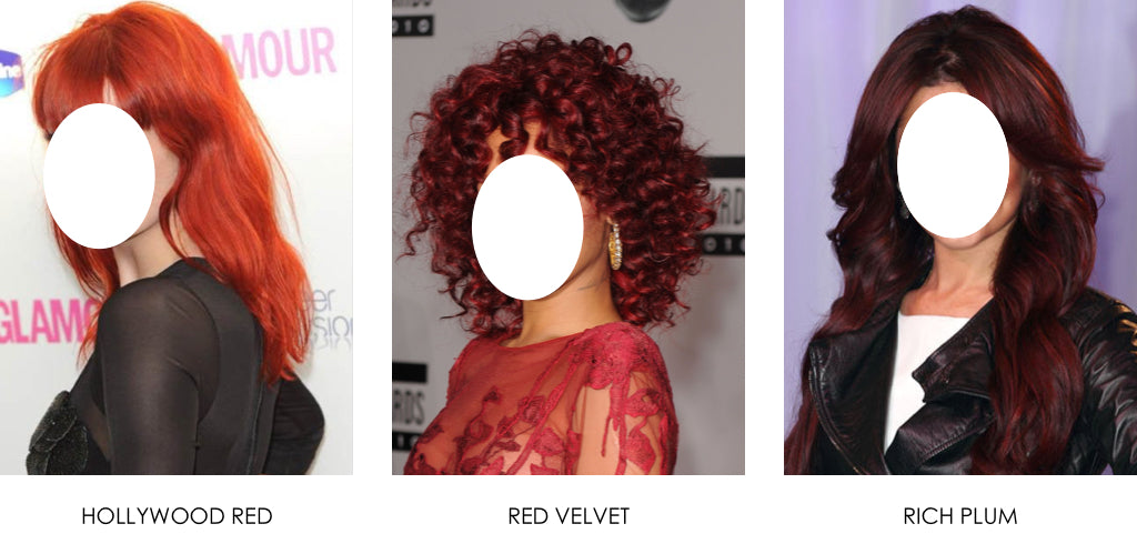 Red hair colour celebrities competition