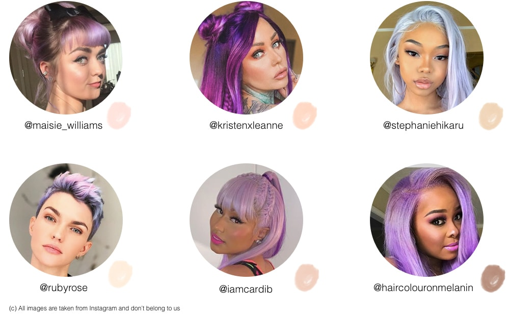 Will lilac hair suit me