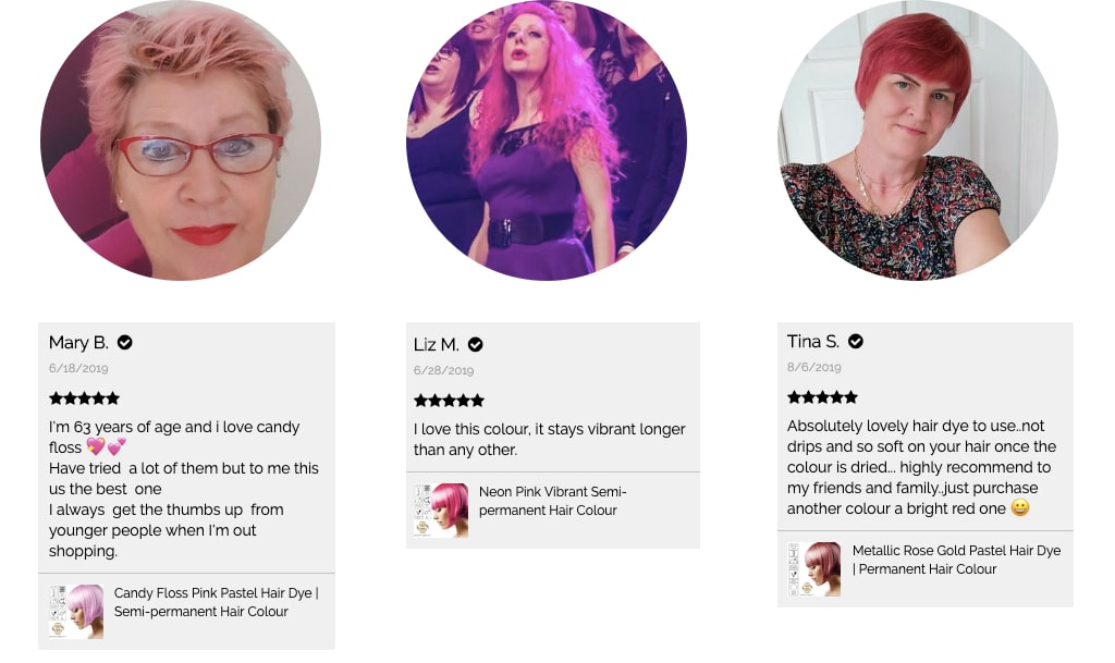 Pink hair colour reviews