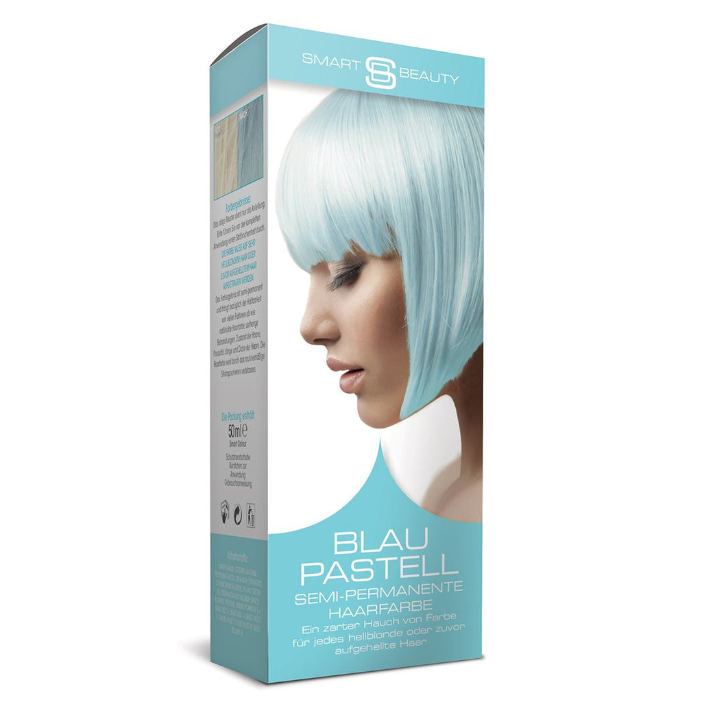 Pastel Baby Blue Hair Dye Semi-permanent Smart Beauty Shop