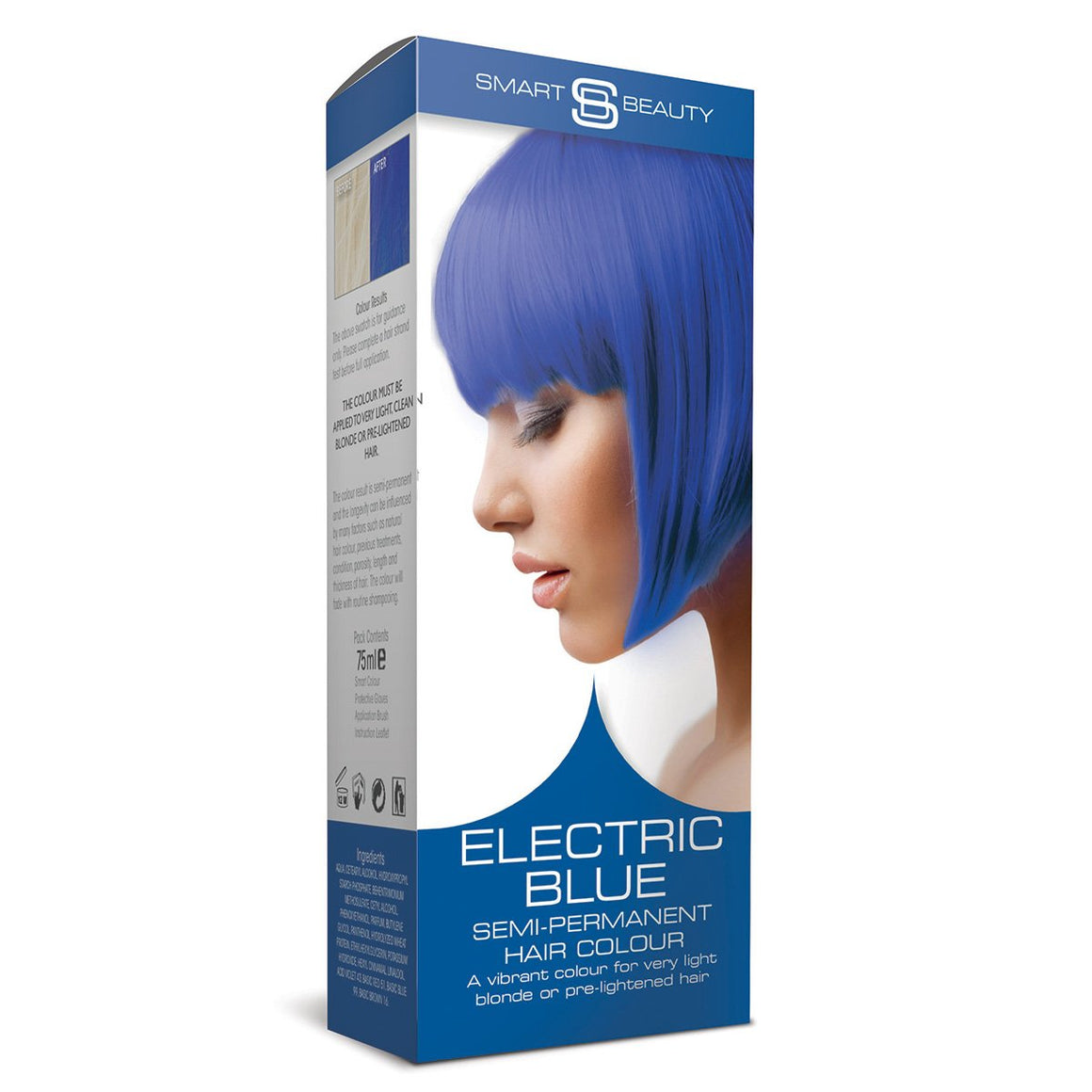 Electric Blue Semi-permanent Hair Colour