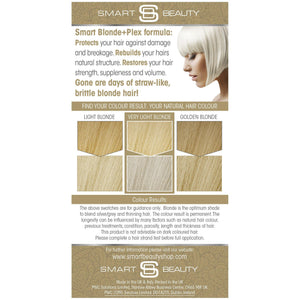 Platinum Blonde Permanent Hair Dye with Smart Plex