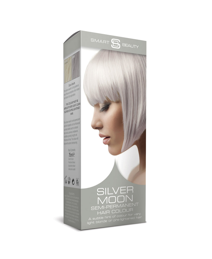 silver pastel semi-permanent hair colour