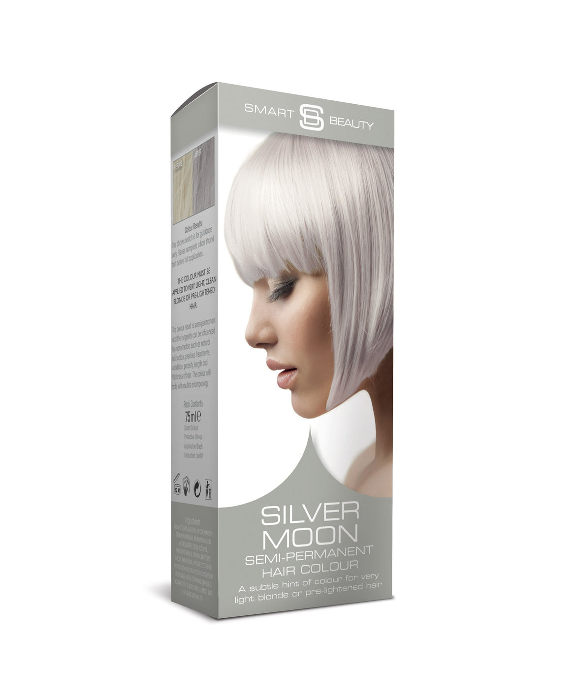 silver moon pastel semi-permanent hair colour