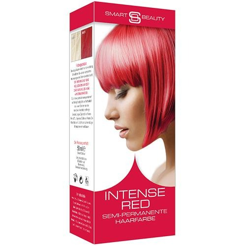 Intense Red Vibrant Hair Dye Semi Permanent Kit Smart