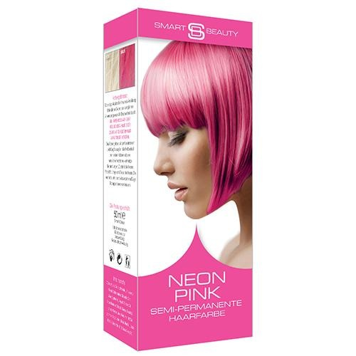 Semi-permanent neon pink home hair colouring kit