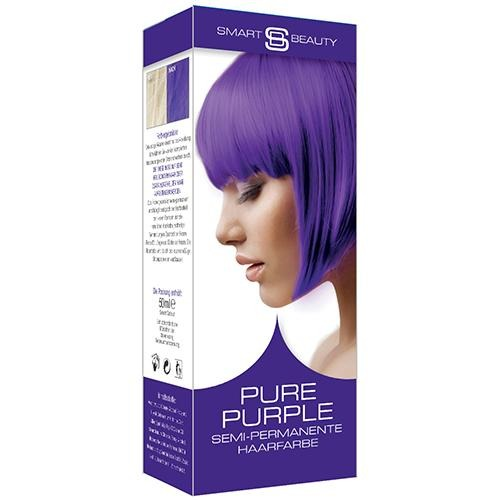 vegan cruelty free hair colour semi-permanent pure purple