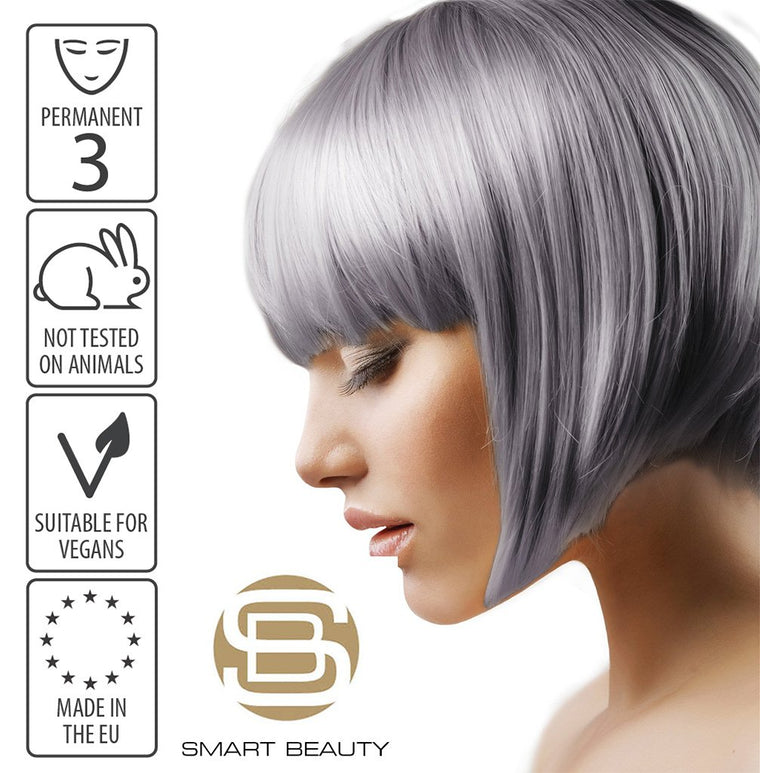 Hair Dye Permanent Grey Metallic Pastel | Vegan | Cruelty Free