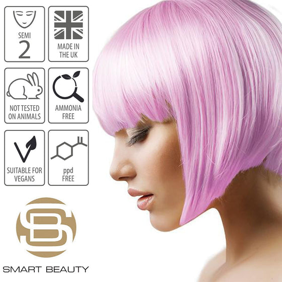 Candy Floss Pastel Pink Hair Dye Semi-permanent DIY Kit