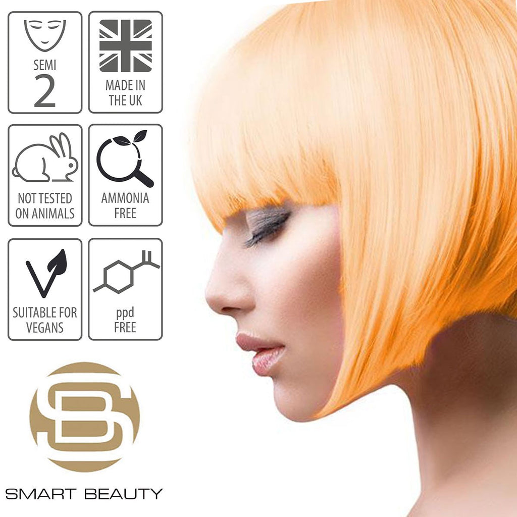 Sunset Orange Pastel Hair Colour