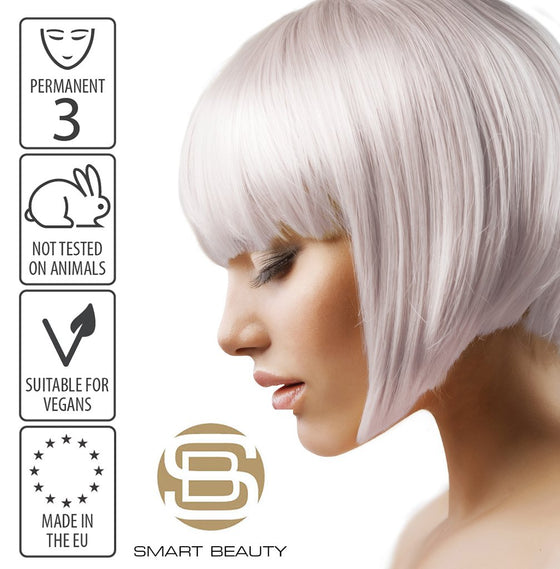 Hair Dye Permanent Metallic Silver | Vegan | Cruelty Free | Made in the EU
