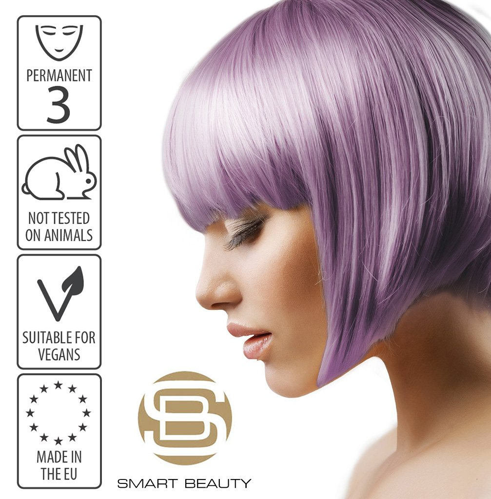 Hair Dye Permanent Lilac purple Metallic Pastel | Vegan | Cruelty Free | Made in the EU