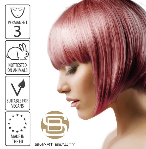 Hair Dye Permanent Rose Gold Metallic Pastel | Vegan | Cruelty Free | Made in the EU