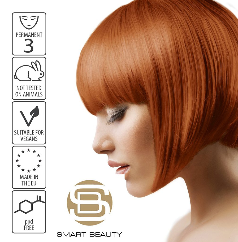 Hair Dye Permanent Copper Amber  | Vegan | ppd Free | cruelty free