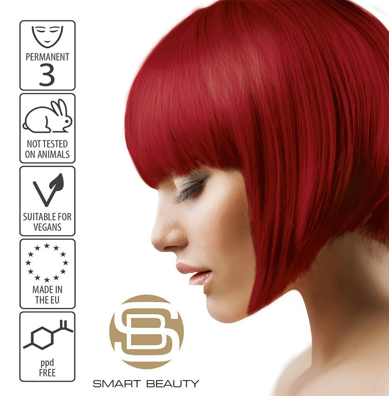 Hair Dye Bright Permanent Red | Vegan | ppd Free | cruelty free