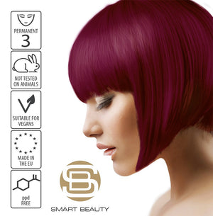 Hair Dye Permanent Rich Plum | Vegan | ppd Free | Cruelty Free