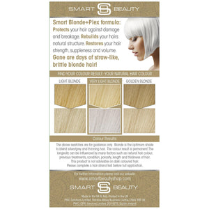 Ash Blonde Permanent Hair Dye with Smart Plex