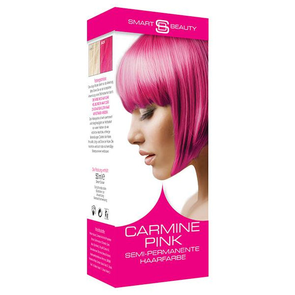 vegan cruelty free hair colour semi-permanent carmine pink