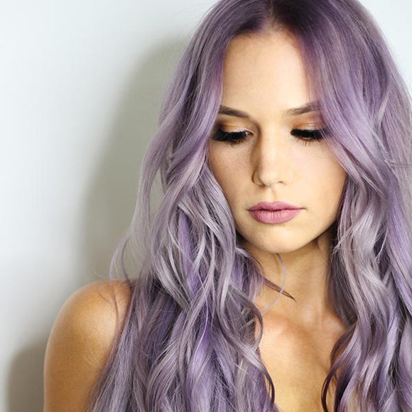 vegan cruelty free permanent hair colour metallic pastel lilac purple