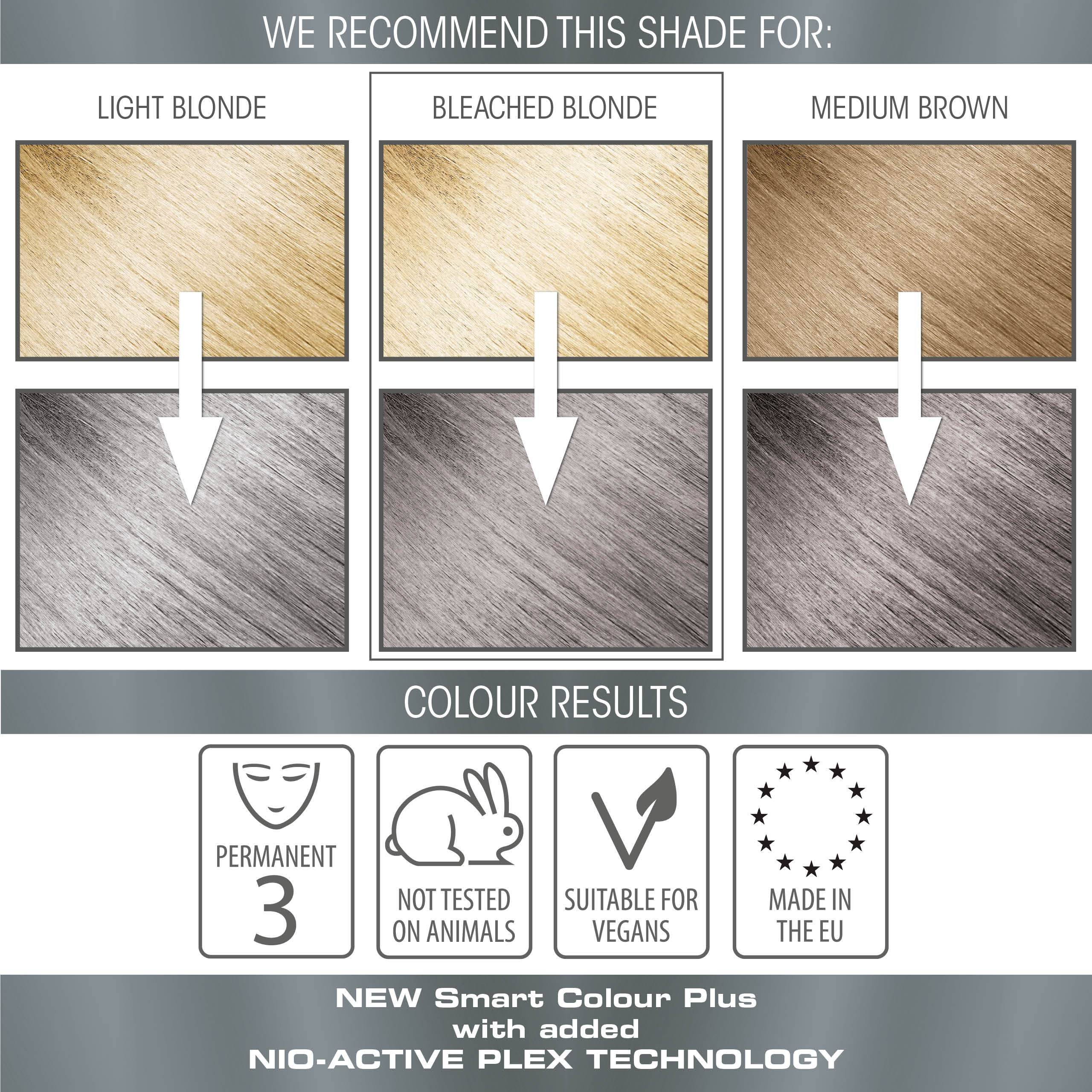 vegan cruelty free permanent hair colour swatches metallic pastel graphite grey