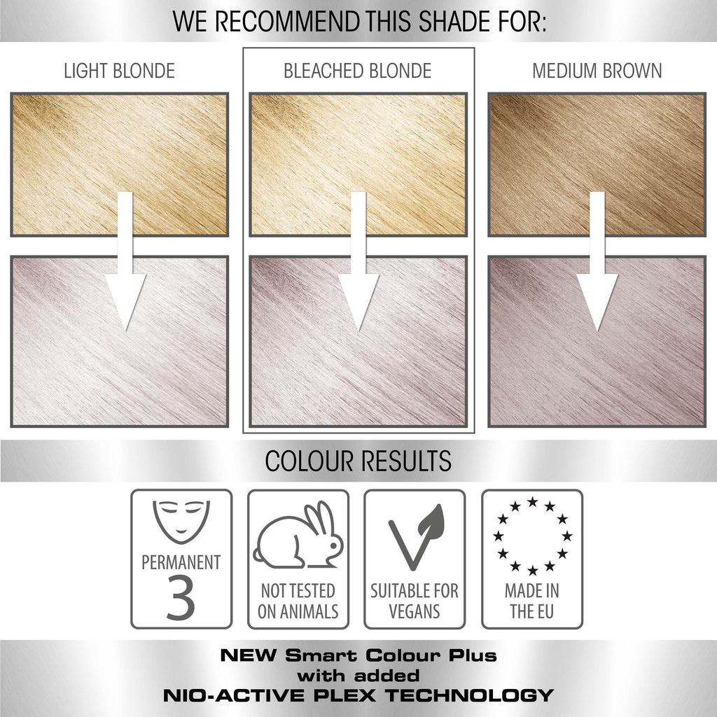 vegan cruelty free permanent hair colour swatches metallic pastel silver
