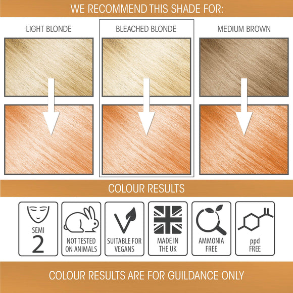 vegan cruelty free hair colour semi-permanent pastel sunset orange