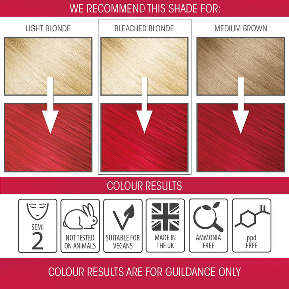 Intense Red Semi-permanent Hair Colour