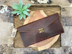 Longleaf Leather Clutch