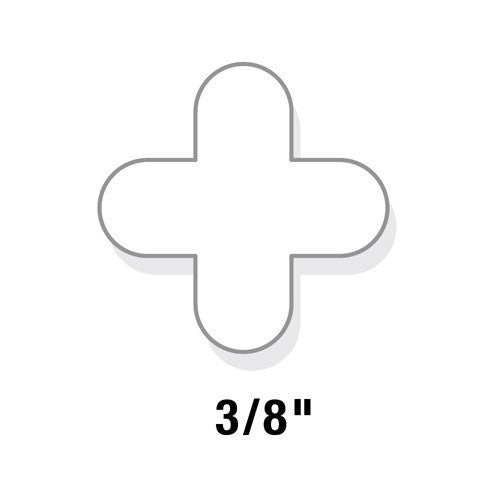"QEP 3/8"" Re-Usable Tile Spacers - Pack of 100"