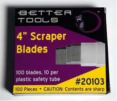 "100ct. 4"" Floor Scraper Blades - Better Tools"