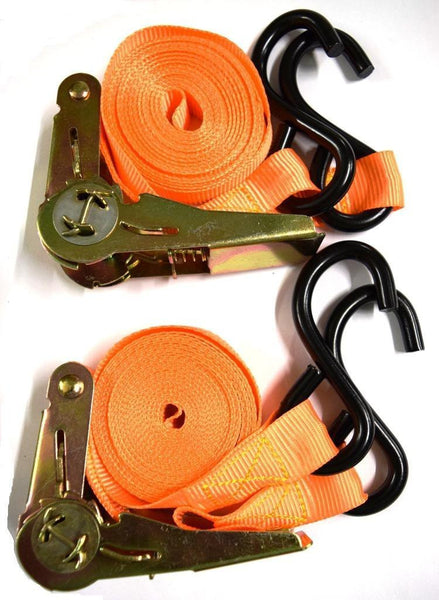Ratchet Tie Down Straps w/ S-Hook by Better Tools