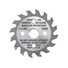 "Carbide Tipped Toe-kick Saw Blade 2-3/4"" Diameter - Crain No. 788"