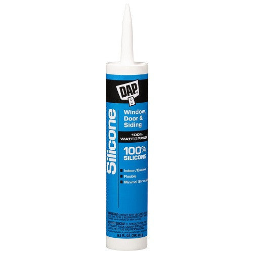 9.8 oz DAP Silicone Caulk - Clear or White