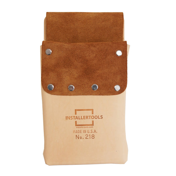 Installertools Split Leather Lined Single Pocket Tool Pouch