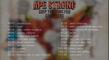 Ape Strong: Grip Training for Grapplers - Instructional video