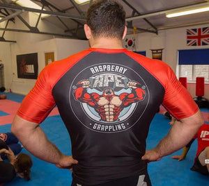 Raspberry Ape Grappling Rash guard