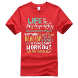Men's Inspirational Photography Life Quote T shirt men