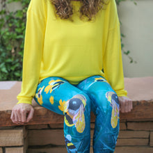 Load image into Gallery viewer, Save the Bees - Yoga Capri Leggings