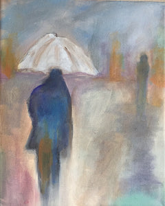 "Walking in the Rain - 8"" x 10"""