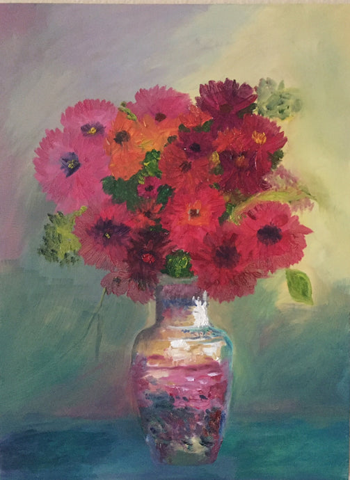 Still Life Flowers Canvas Oil Painting | Hanging Wall Art | Flower In A Beautiful Vase 18