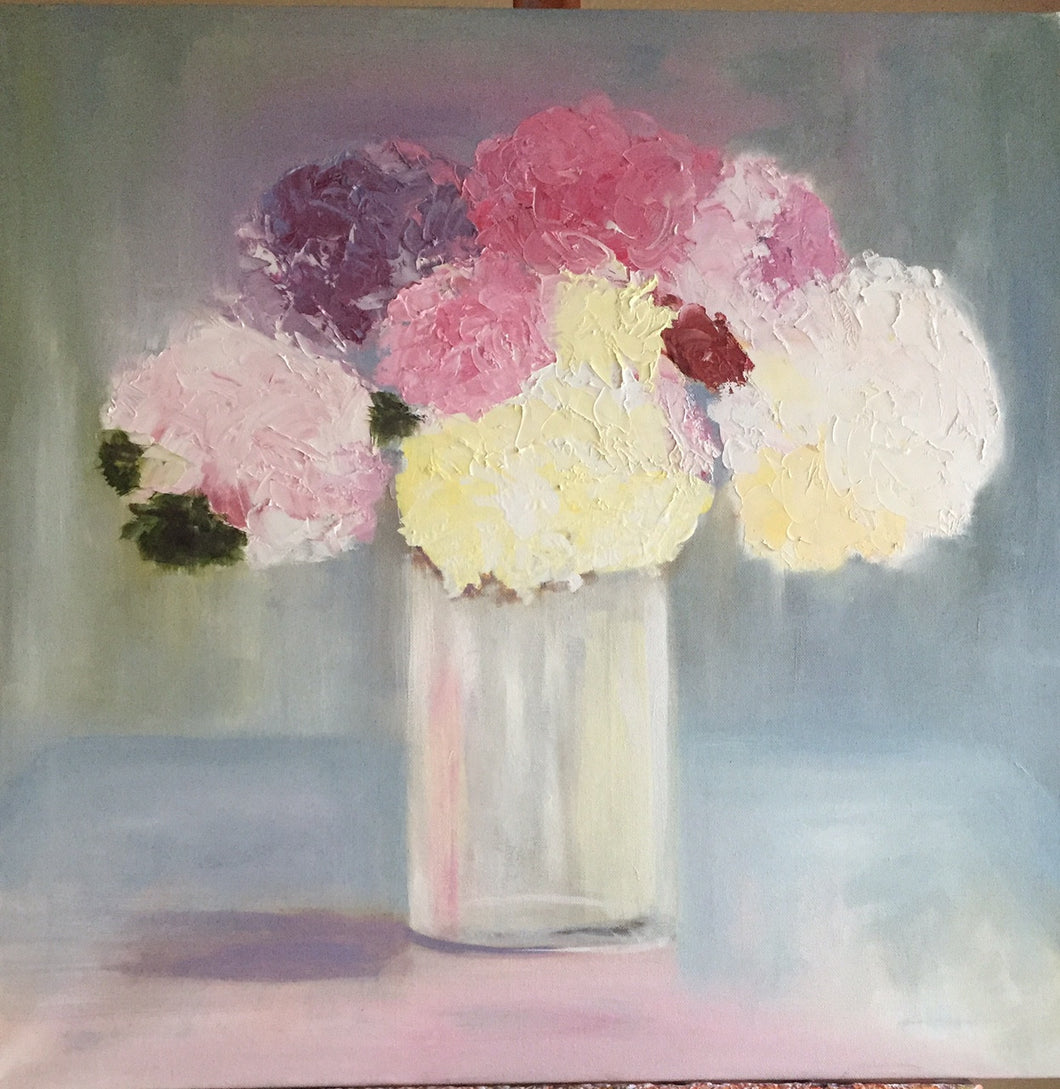 Still Life Wall Art , Abstract Art Decor, Hydrangeas Home Decor & Accents