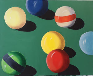 Pool Cue Balls Canvas Art | Man Cave Wall Decor | Pool Table Hanging Art