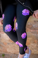 Load image into Gallery viewer, Pansy Power - Yoga Leggings