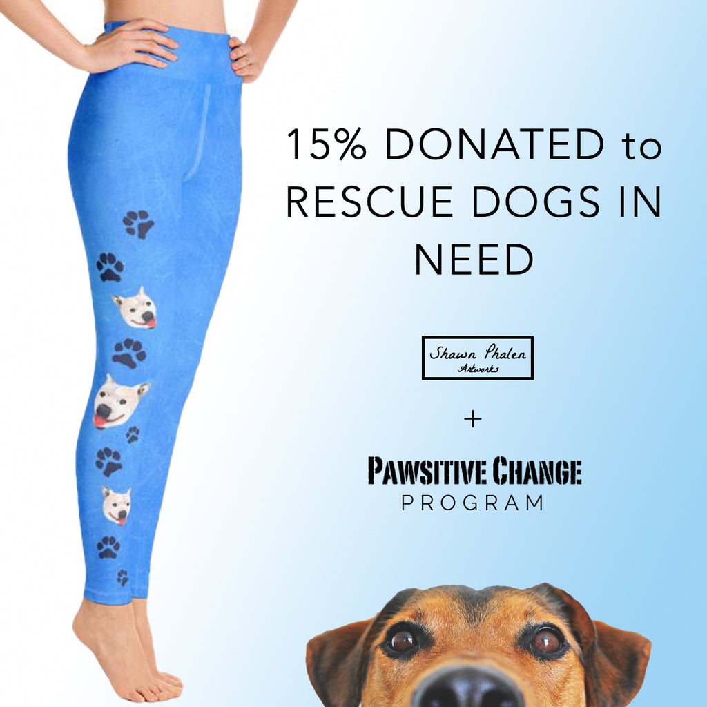 Dog Rescue - Lily the Pitbull Yoga Leggings