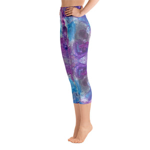 Purple Passion - Yoga Capri Leggings