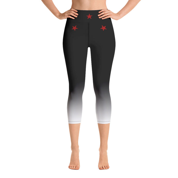Red Stars - Yoga Capri Leggings