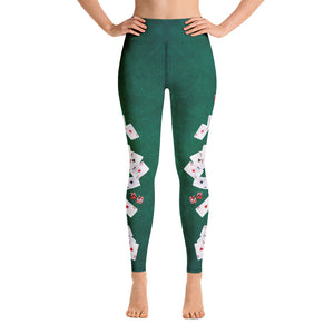 Lady Luck - All-Over Print Yoga Leggings