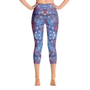 Blueberries - Yoga Capri Leggings